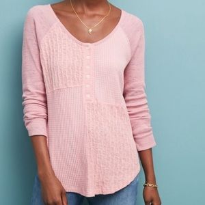 Anthropologie Saturday Sunday thermal Henley